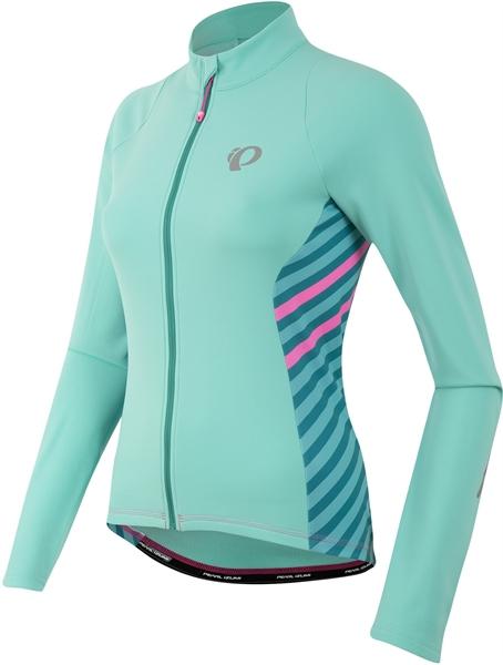 Pearl Izumi Womens Select Pursuit Thermal Jersey aqua mint stripe