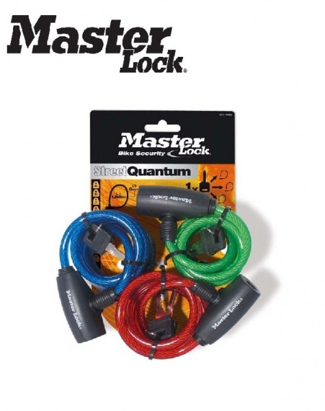 Master Lock Kabelschloss 8127 TRI Familypack 1,8m x 8mm