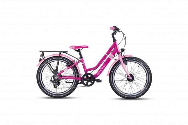 S´COOL chiX 20 twin Aluminium 7-Gang pink
