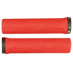 Syncros Pro Lock-On Griffe neon red