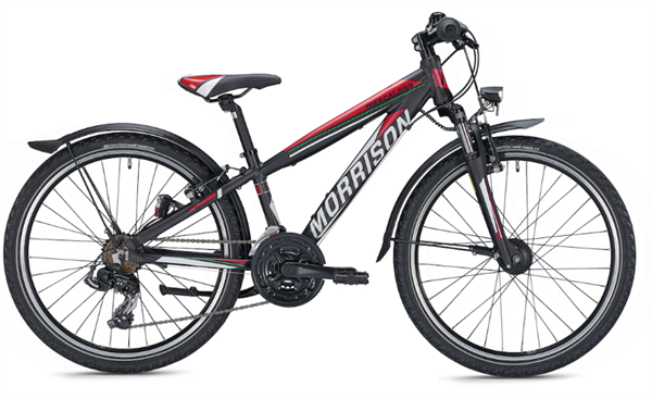 Morrison Mescalero S24 24 inch Diamant black/red Kids Bike