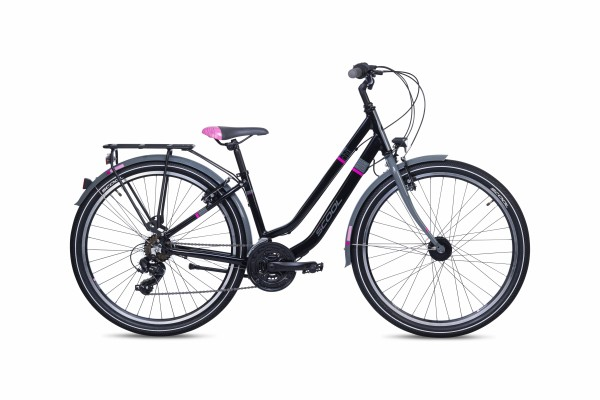 S´COOL chiX twin 26 Aluminium 21-Gang black/pink