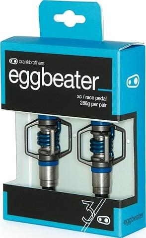 Crank Brothers Eggbeater 3 silber/blau