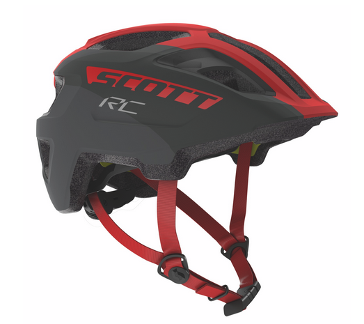 Scott Spunto Junior Plus Helm grey/red RC
