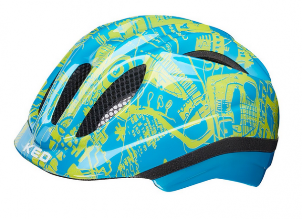 KED Meggy II Trend Kinder Helm blue yellow