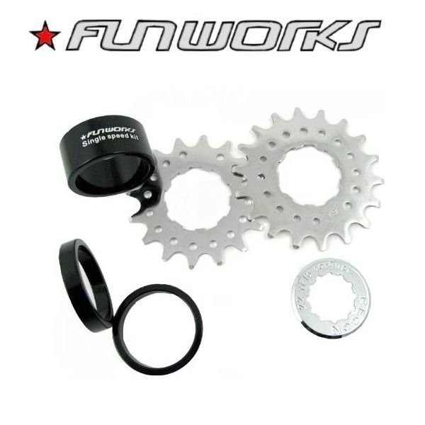Fun Works Single Speed Kit / Adapter incl. 2 Ritzeln