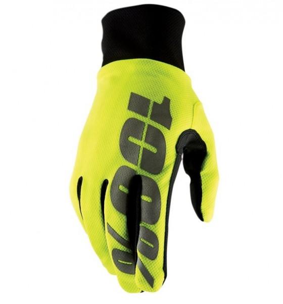 100% Hydromatic Waterproof Glove neon yellow