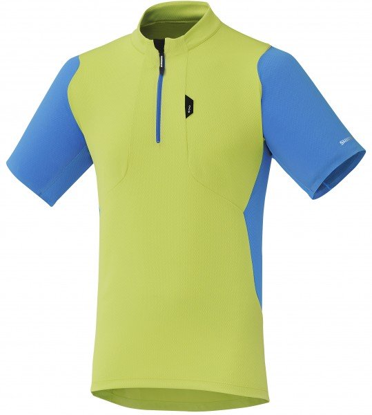 Shimano short sleeve Touring electric green
