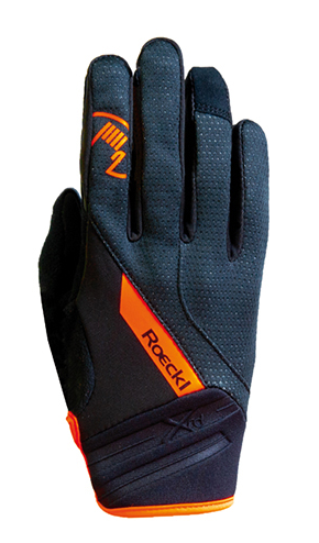 Roeckl Renon Bike Weatherproof Gloves Black/Orange
