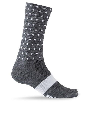 Giro Sesonal Merino Wool Socke charcoal/ white dots