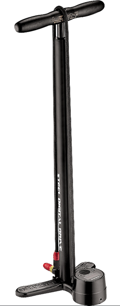 Lezyne floor standing pump Steel Digital Drive matt black
