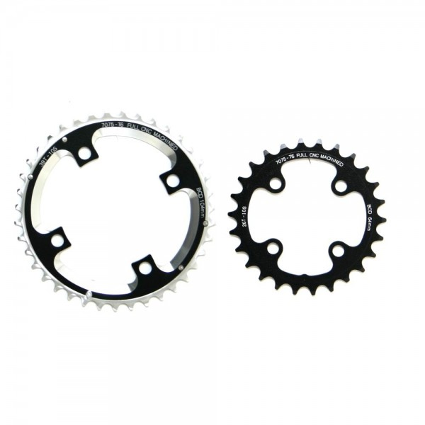 Fun Works N-Light Chainwheel for MTB 2X Crank 104/64