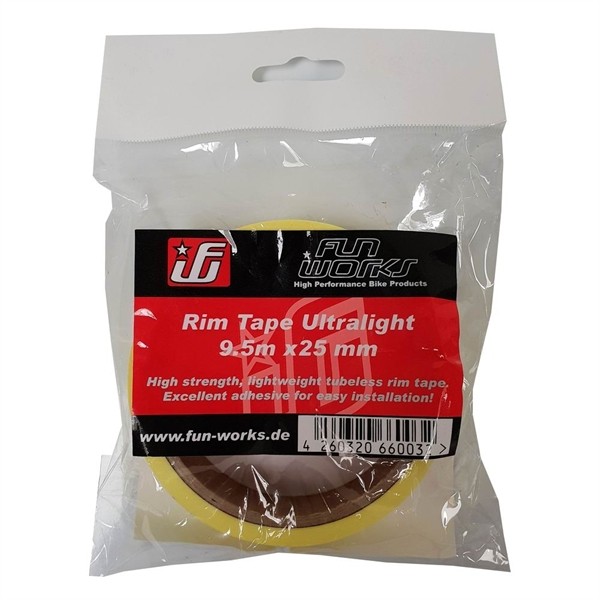 Fun Works Tubeless Rim Tape Ultralight 9,5mX25mm