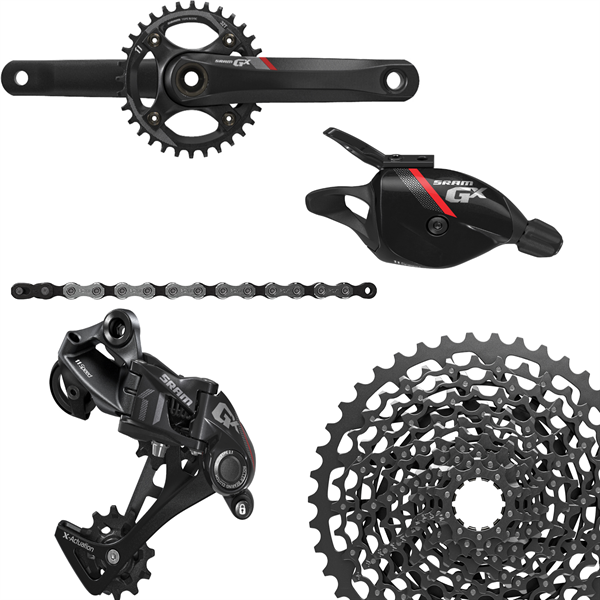 SRAM Groupset GX1 - 1400 GXP 1x11-speed, red