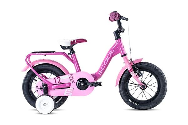 S´COOL niXe 12 Aluminium 1-speed pink/light pink