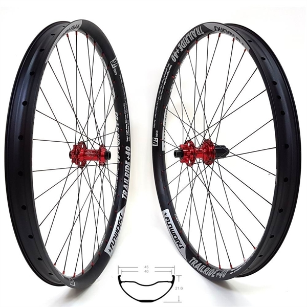 Fun Works N-Light Boost E-Bike Trailride+40 Hybrid E-MTB Wheelset 29er 2140g