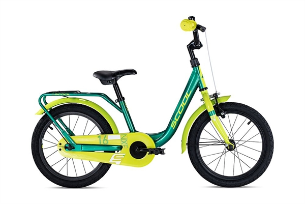S´COOL niXe 16 steel 1-speed green/lemon