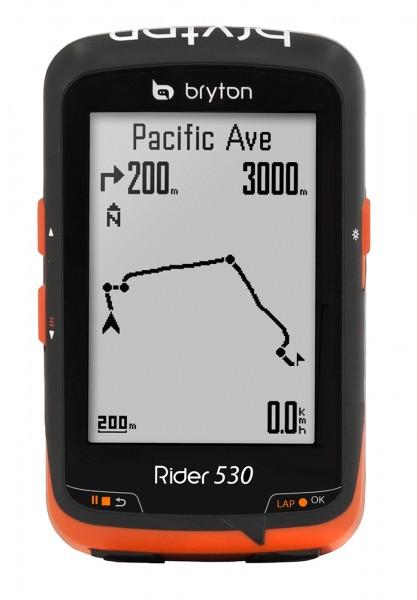Bryton Rider 530 H GPS Fahrradcomputer Schwarz mit Herzfrequenz