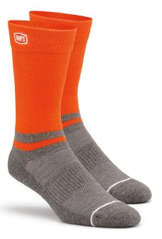 100% Block Athletic socks orange