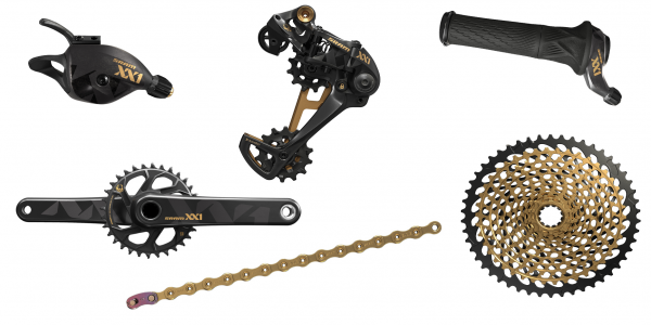 SRAM Groupset XX1 Eagle Boost - DUB 1x12-speed - black/gold