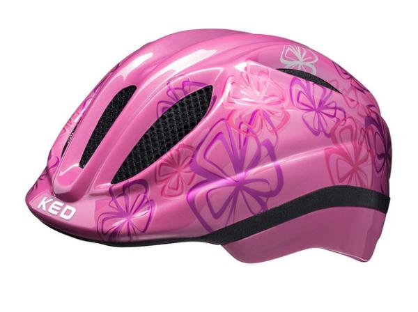 KED Meggy II Trend Kinder Helm pink flower