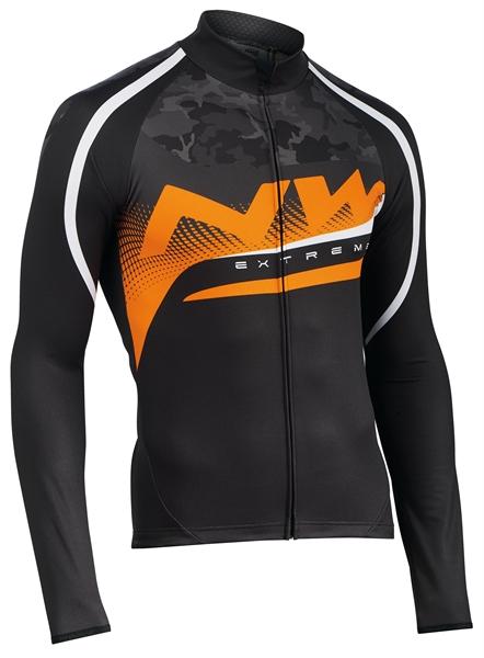 Northwave Extreme Graphic Jersey LS black/camo/orangefluo