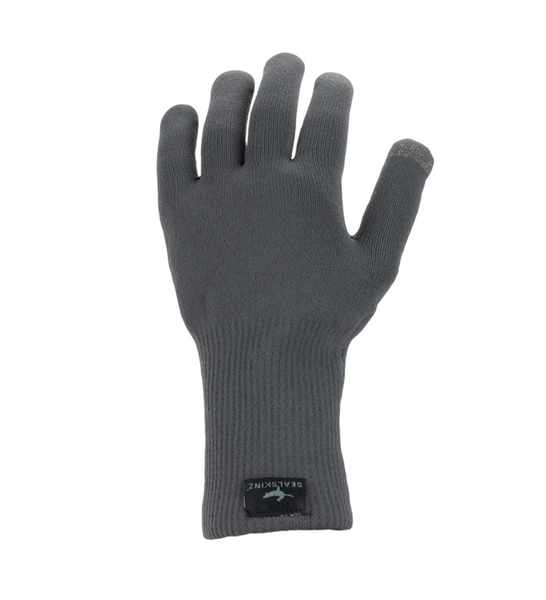 SealSkinz gloves Ultra Grip knitted gray
