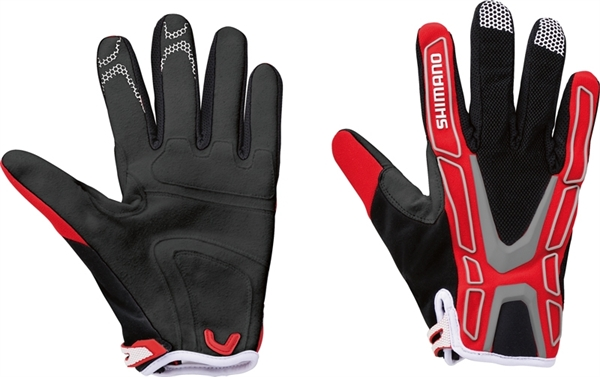 Shimano Team Gloves red