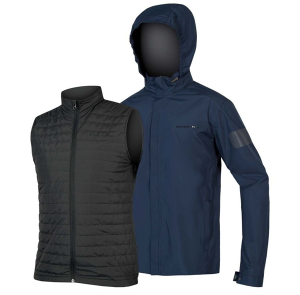 Endura Urban 3 in 1 Jacket wasserdicht marineblau