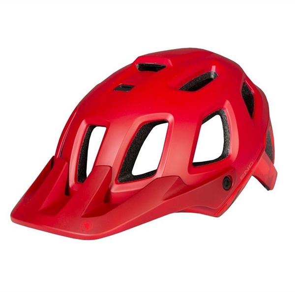 Endura Singletrack II Helm rostrot