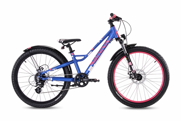 S´COOL faXe 24 alloy 8-speed blue/pink