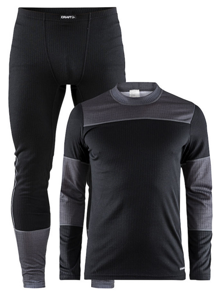 Craft Baselayer Set black/darkgrey