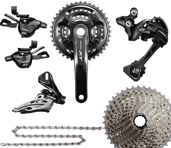 18e0624e817 Shimano Deore XT Groupset M8000 3x11 black | buy | ActionSports.de | Bike  Webshop