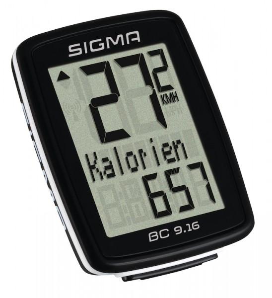 Sigma Fahrradcomputer BC 9.16 schwarz
