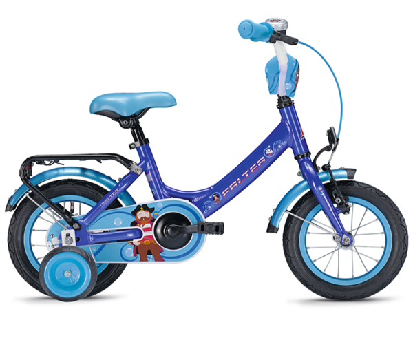 Falter Pirat 12 Zoll blau Kinderrad