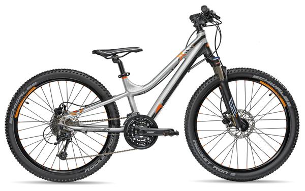 S´COOL TroX elite 24 Aluminium 27-Gang brushed/black/orange