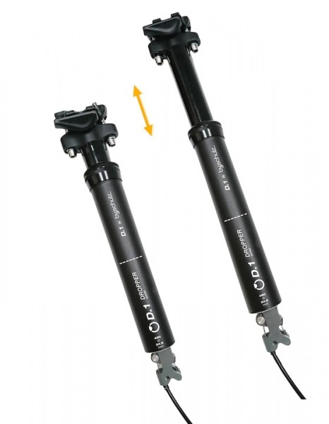 by.schulz seatpost D.1 Ri lowerable 100 mm Travel 30,9 mm 360 mm