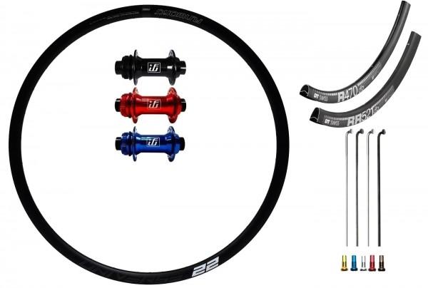 Fun Works N-Light One Disc CL Custom Vorderrad Rennrad/Gravelbike 700c