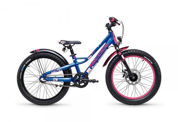 S´COOL faXe 20 Aluminium 3-speed blue/pink matt