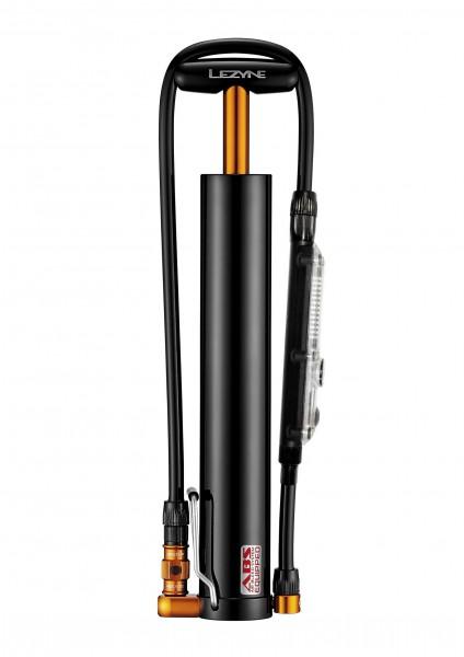 Lezyne Micro Floor Digital Drive XL Minipumpe schwarz-glänzend