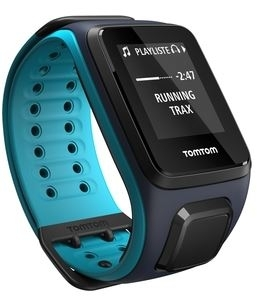 TomTom Runner 2 Cardio +Music BT Watch blue Large