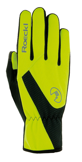 Roeckl Roth Windproof Gloves neon yellow