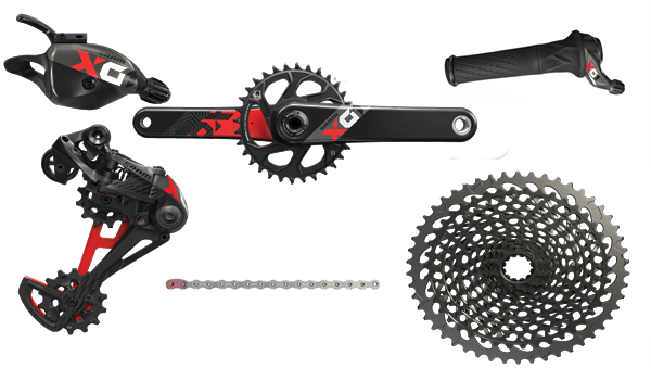 SRAM Groupset X01 Eagle - DUB 1x12-speed - black/red