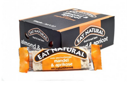 Eat Natural fruit bar almond apricot with yoghurt coating