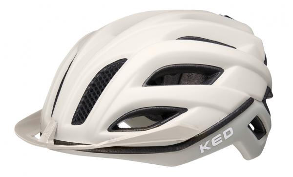 KED Champion Visor Rennrad Helm ash light matt