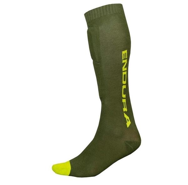 Endura Singletrack Shin Guard Sock Schienbeinprotektor-Socken waldgrün
