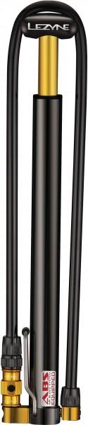 Lezyne Minipumpe CNC Micro Floor Drive HP schwarz-glänzend