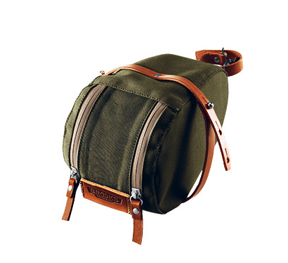 Brooks Isle of Wight Saddle Bag medium - green/honey