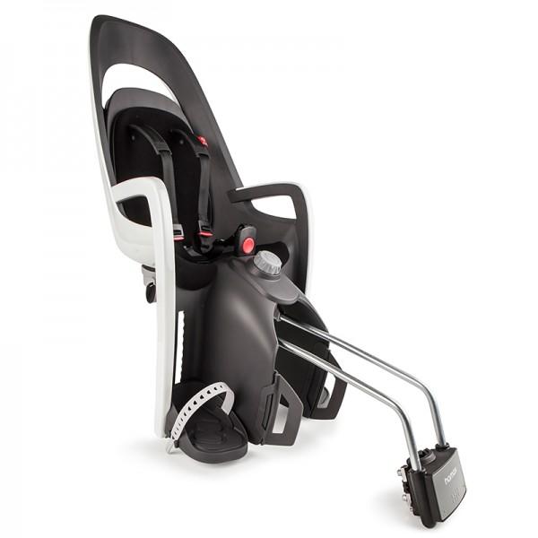 Hamax Caress Kinderfahrradsitz mit abschließbarer Halterung schwarz weiß