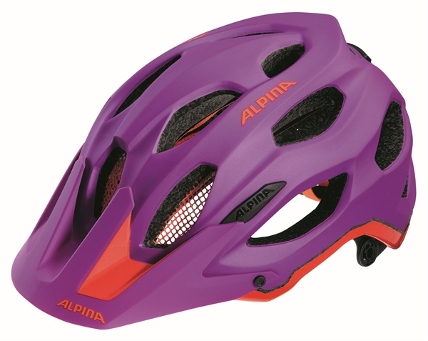 Alpina Carapax Helm purple neon-red
